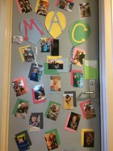Mac's apartment door at Christopher's Haven