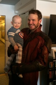 A superhero with Star Lord