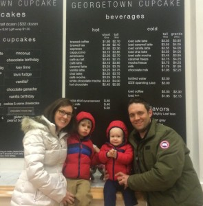 Family trip to Georgetown Cupcake in Boston for treats!