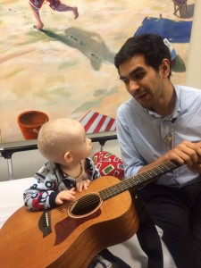 Mac & Julio doing music therapy