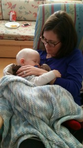 Snuggling at chemo